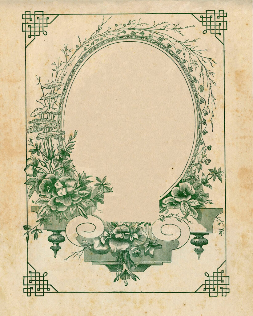 blank green sheet music cover image