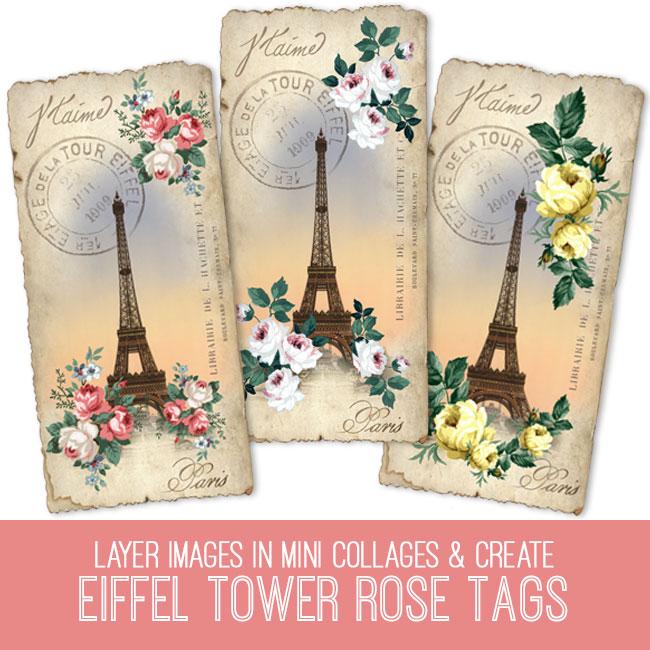 PSE tutorial Eiffel Tower rose tags