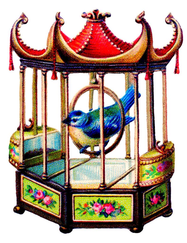 vintage Asian style birdcage image