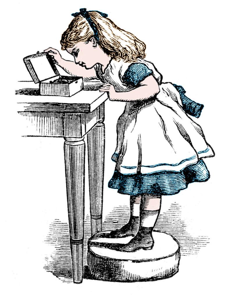 Alice Wonderland illustration