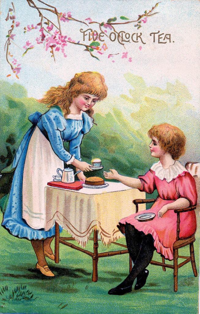 Alice Wonderland tea party image