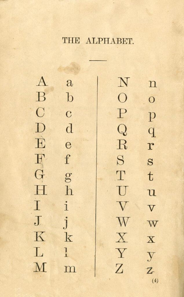 upper and lower case vintage alphabet image
