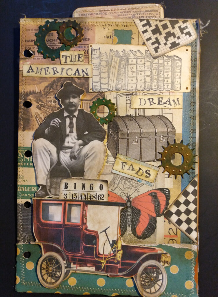 American Dream Junk Journal Page