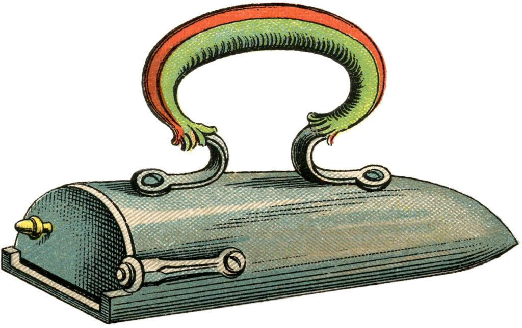 antique flat iron image