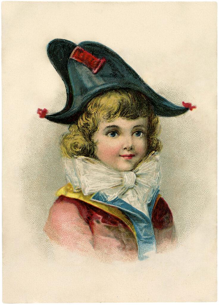 Bicorne hat boy image