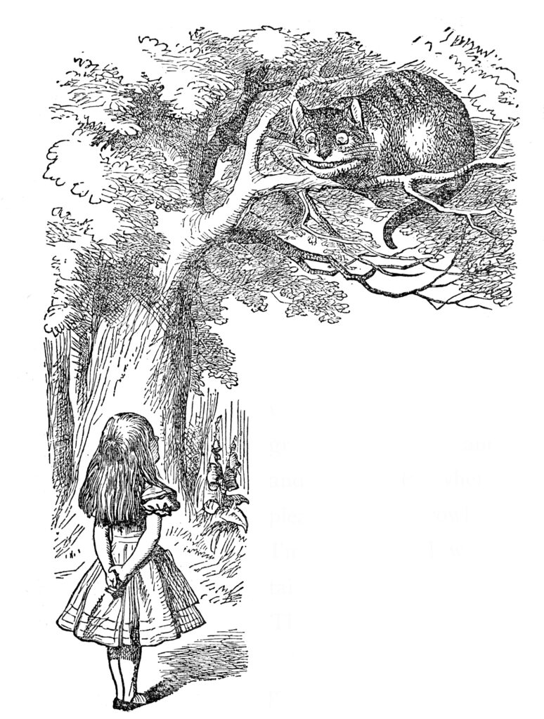 Alice wonderland Cheshire cat clipart