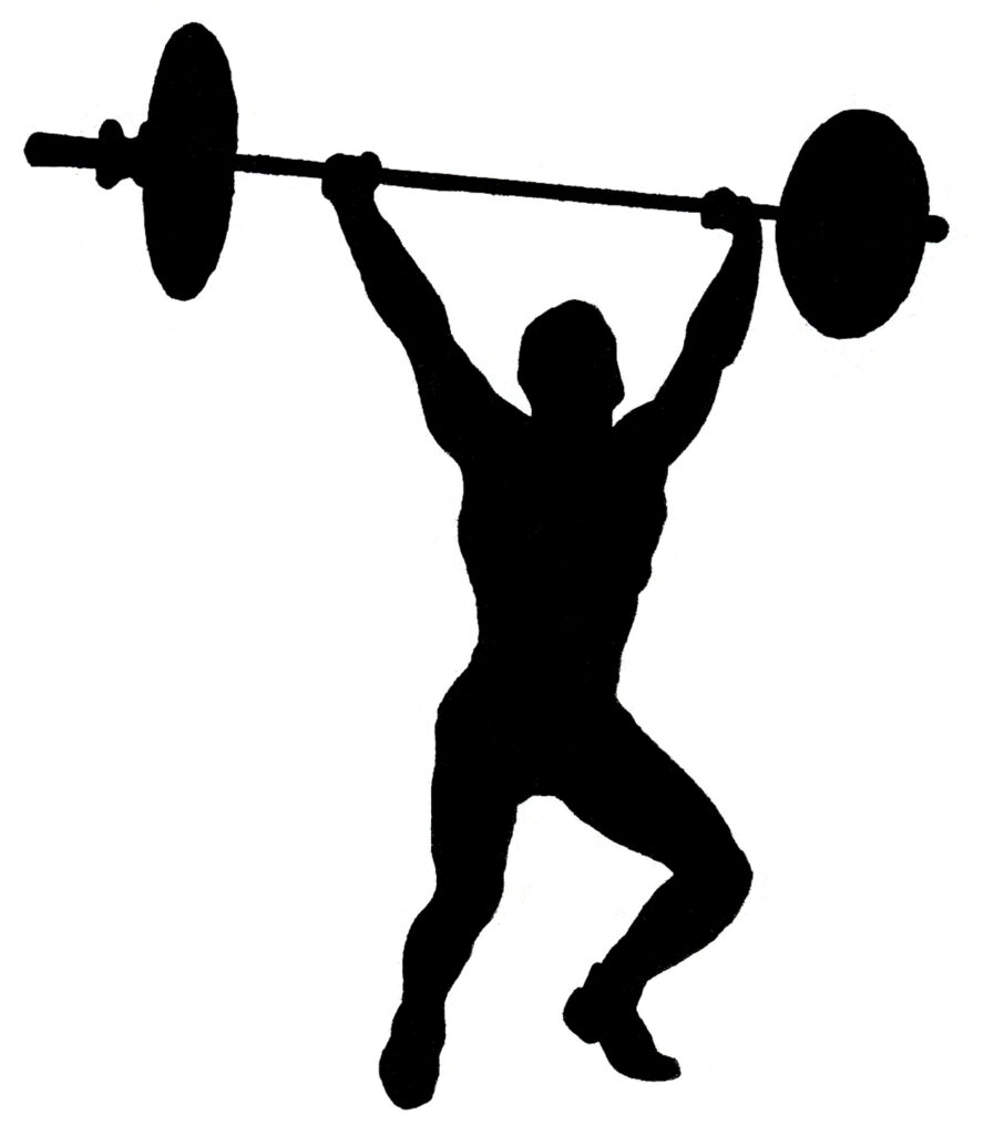 circus strong man silhouette illustration