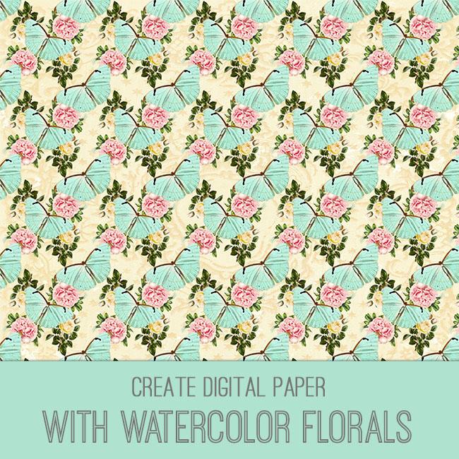 PSE tutorial watercolor florals