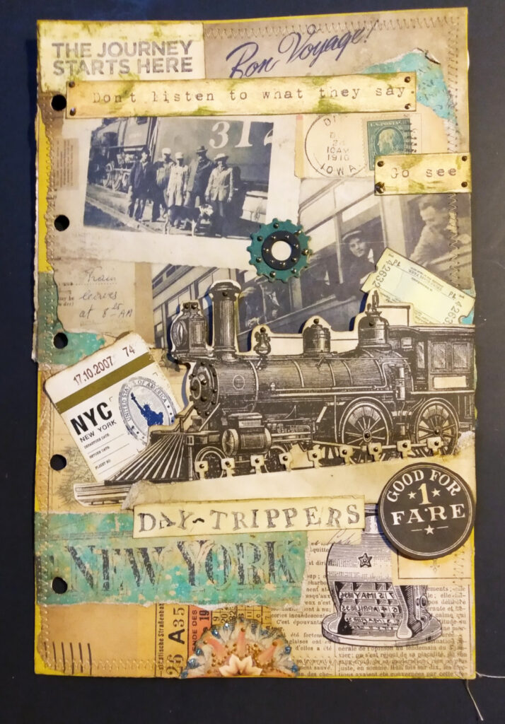 day trippers journal page