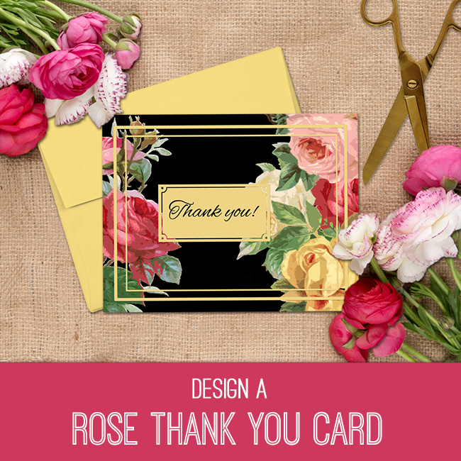PSE tutorial rose thank you card