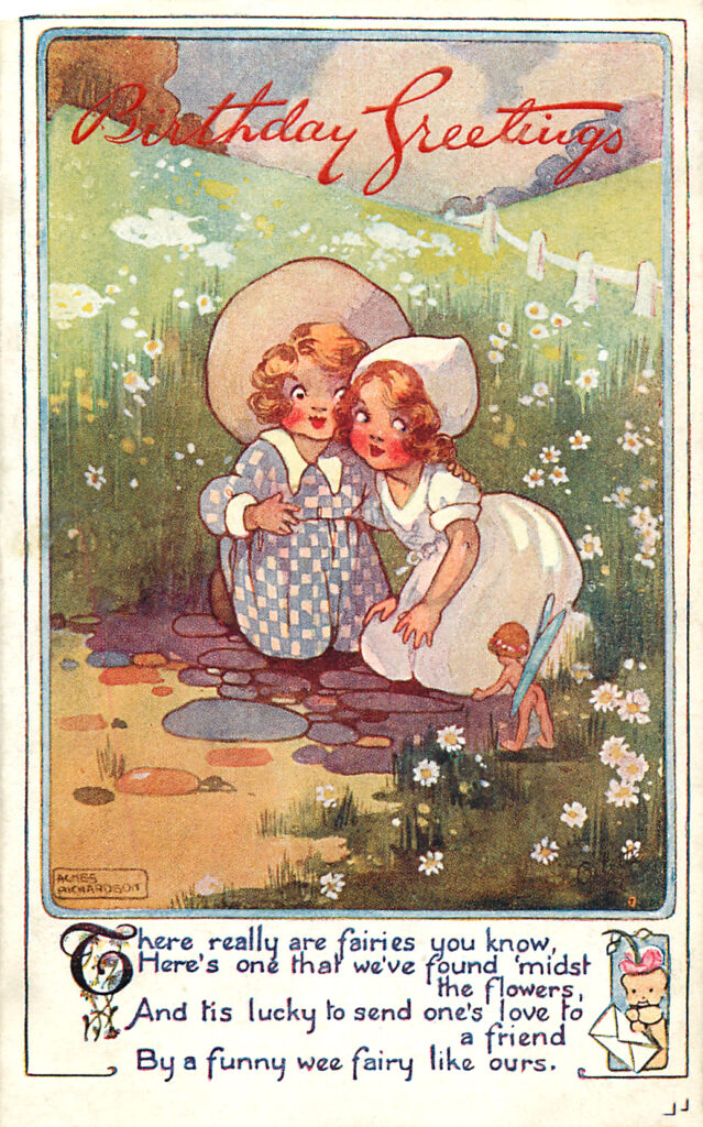 Happy Birthday Children with Fairy Image