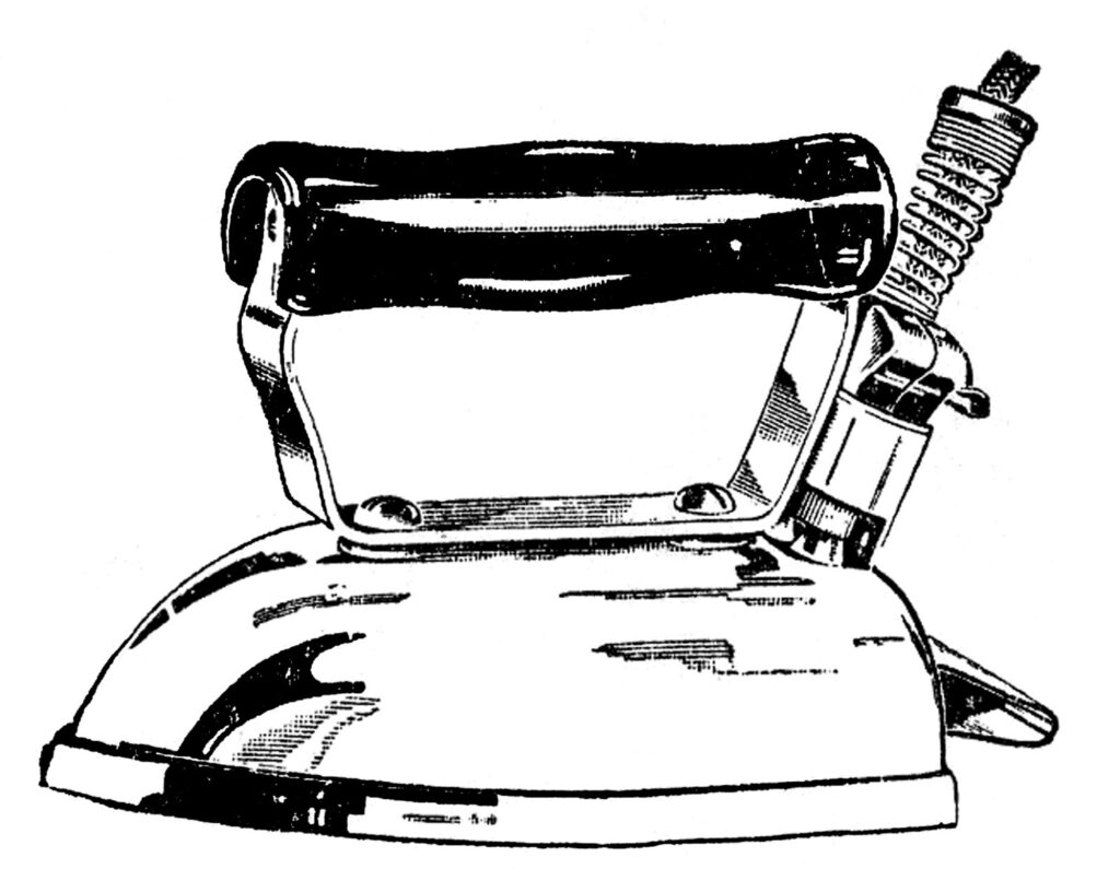 vintage electric iron clipart
