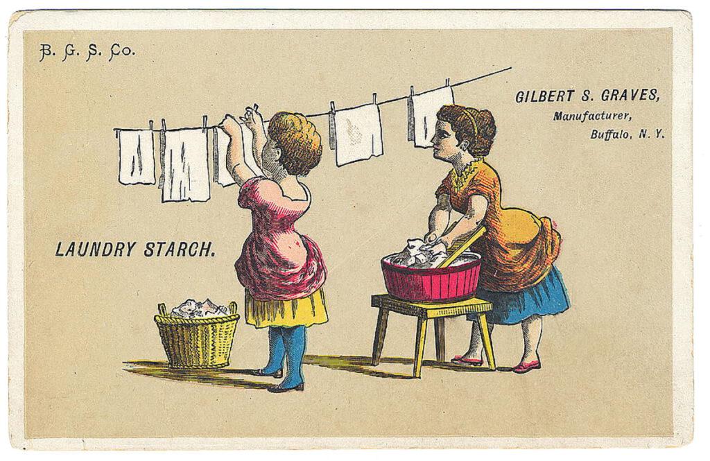 vintage laundry children clothesline image