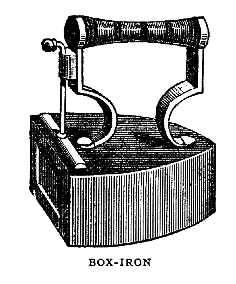 antique flat iron clipart