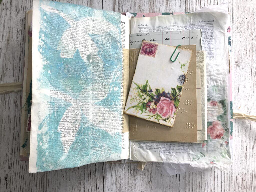 Leaf Print Paper Journal Page