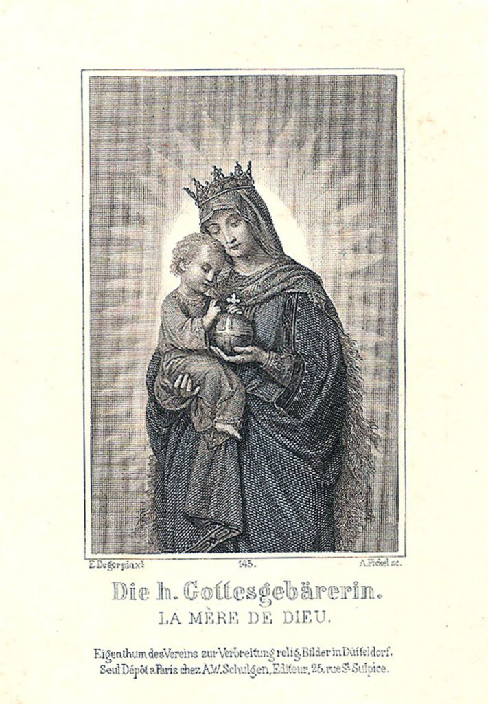 Madonna child French Holy Card image