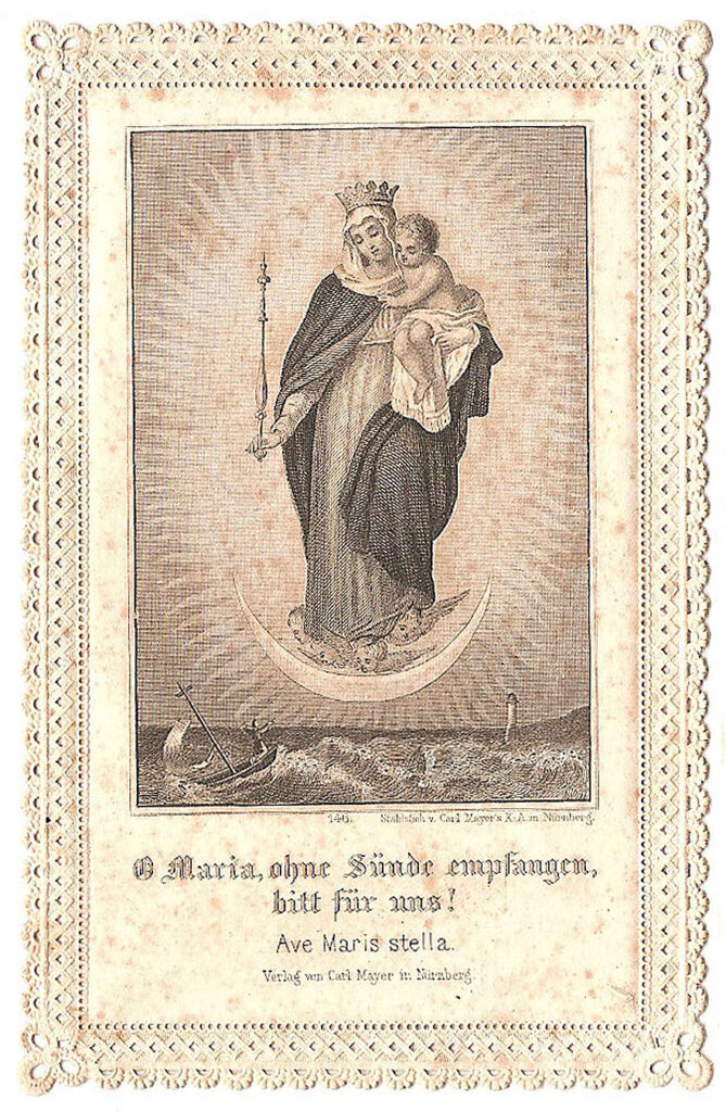 mary child holy card clipart