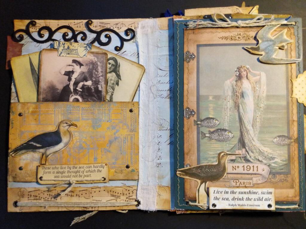 Mermaid ephemera journal page