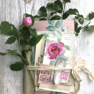 Midsummer Rose Junk Journal Cover