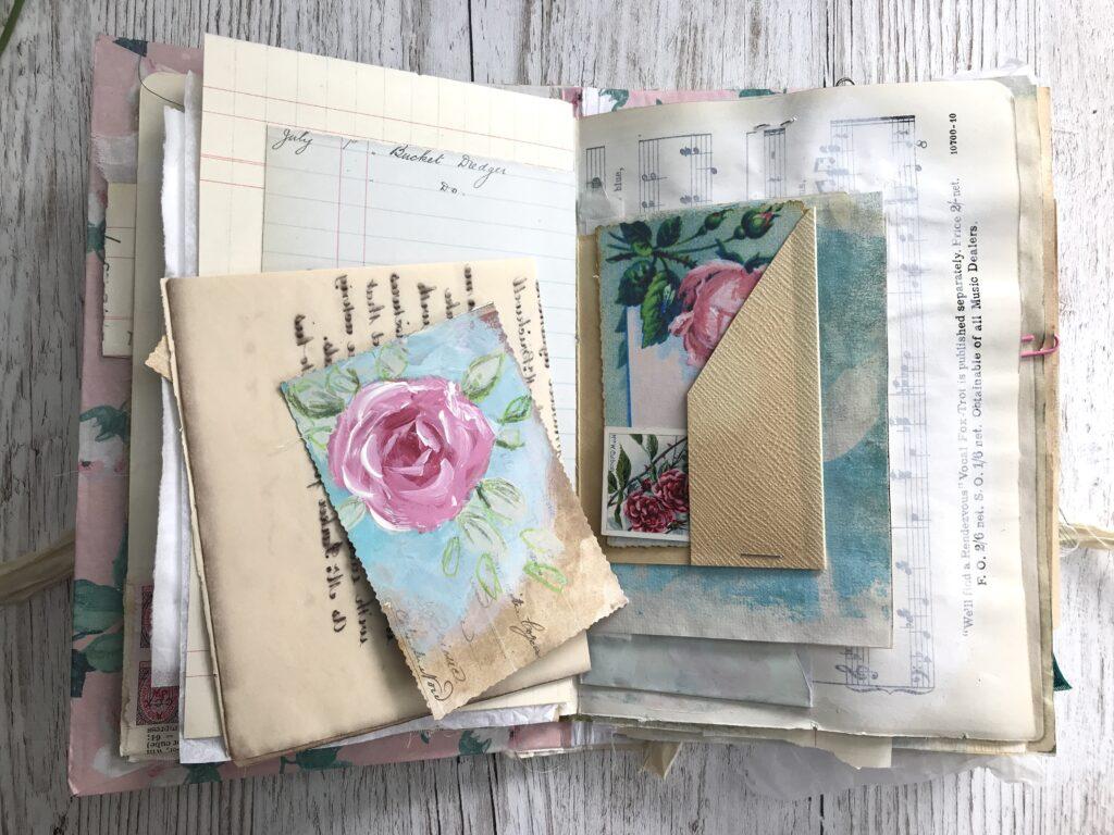 Handpainted Rose Post Card