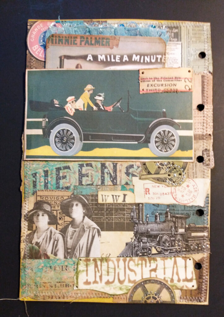 antique car journal page