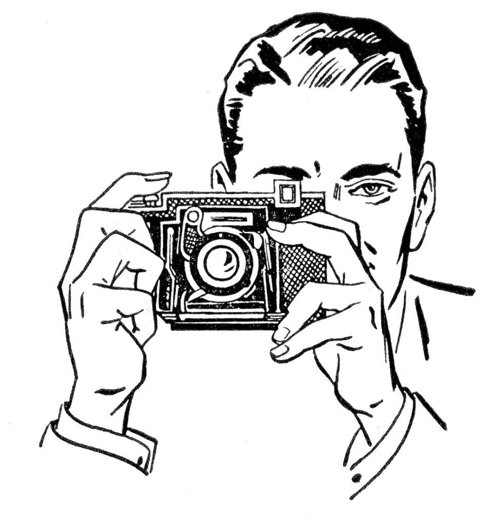 retro man camera image