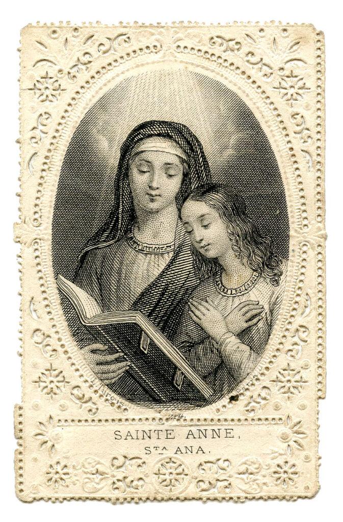 Saint Anne Holy Card clipart