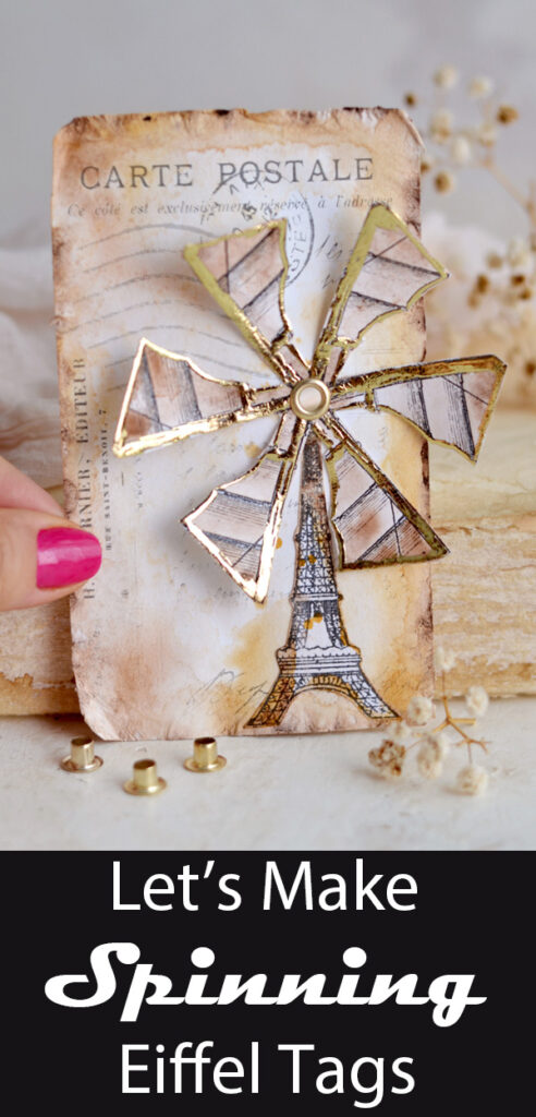 Spinning Eiffel Tags Pin