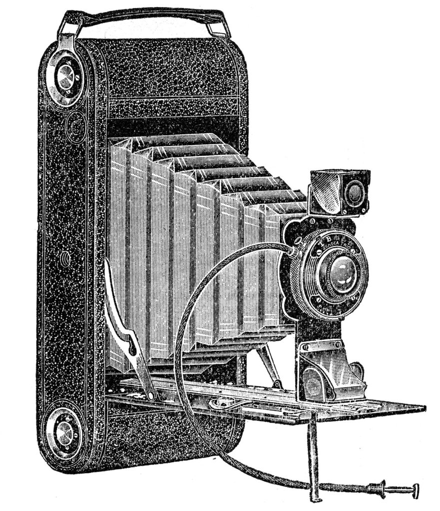 antique folding camera clipart