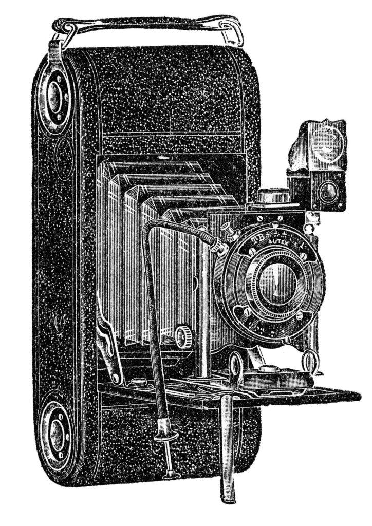 antique box camera illustration