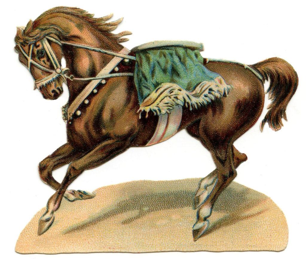 vintage circus horse illustration
