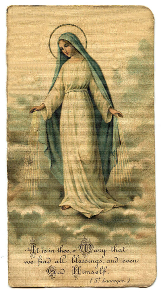 virgin Mary holy card image