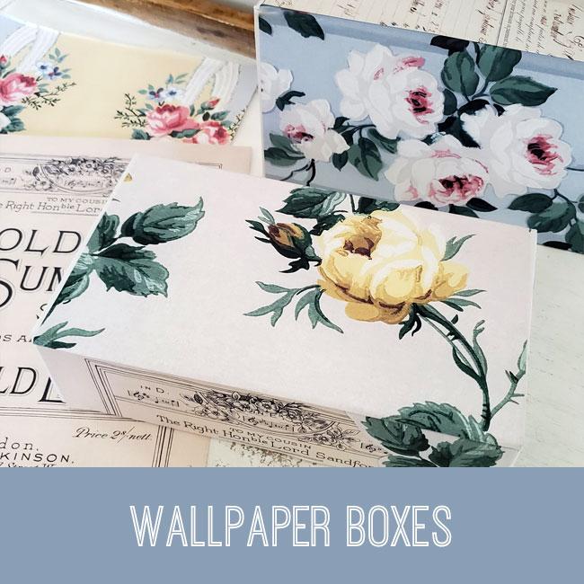Wallpaper Boxes craft tutorial