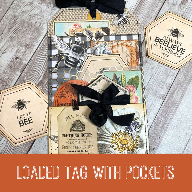 Loaded Tag with Pockets Tutorial