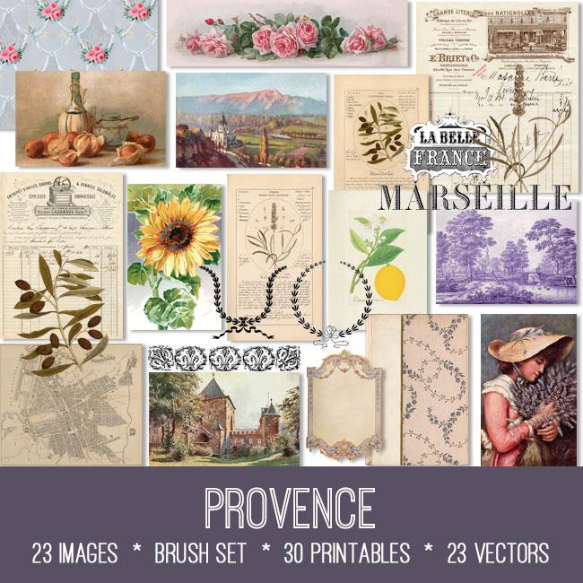 Provence ephemera vintage images