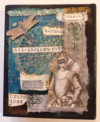 back cover Halloween junk journal