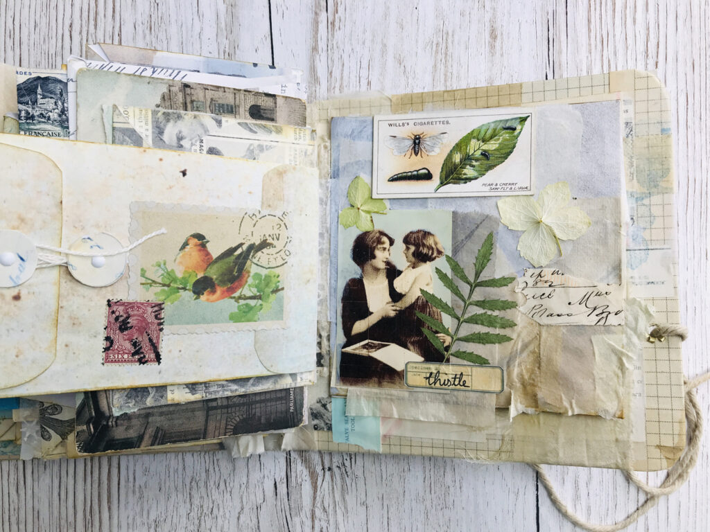 envelope journal pages