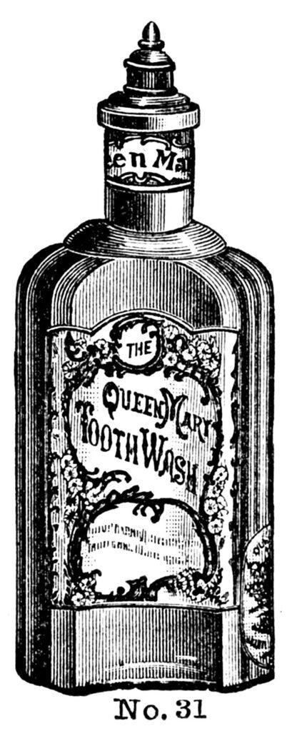 antique bottle tooth wash image