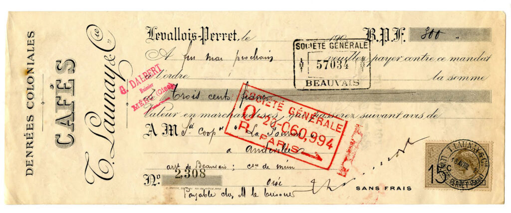 vintage French cafe check image