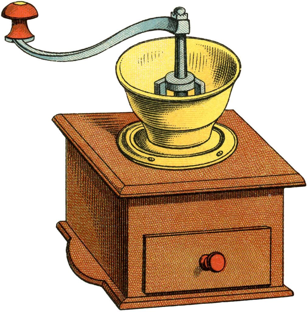 antique coffee grinder image