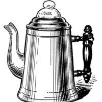 vintage coffee pot percolator clipart
