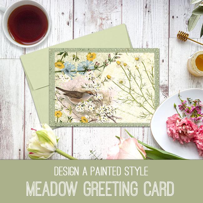 meadow greeting card tutorial