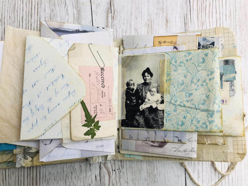 vintage photograph ephemera page