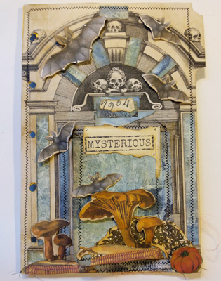 mysterious crypt skulls journal page
