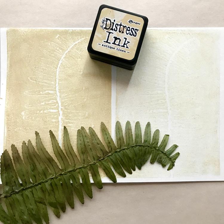 Custom Leaf Stamp with Ink Print