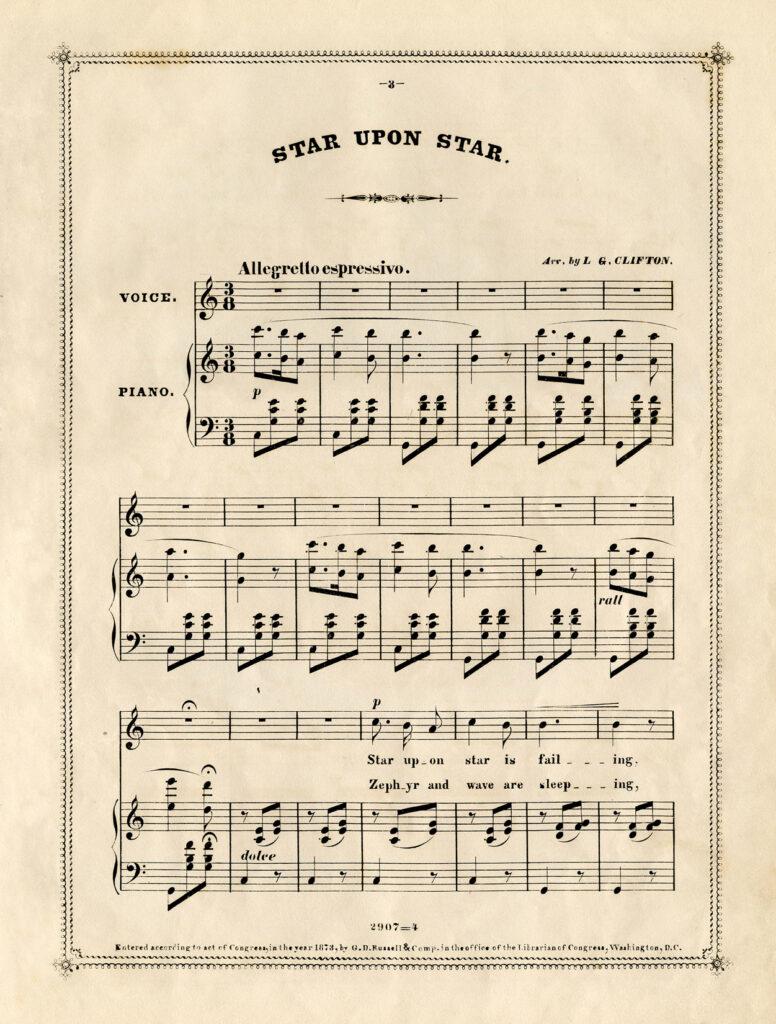 vintage sheet music clipart