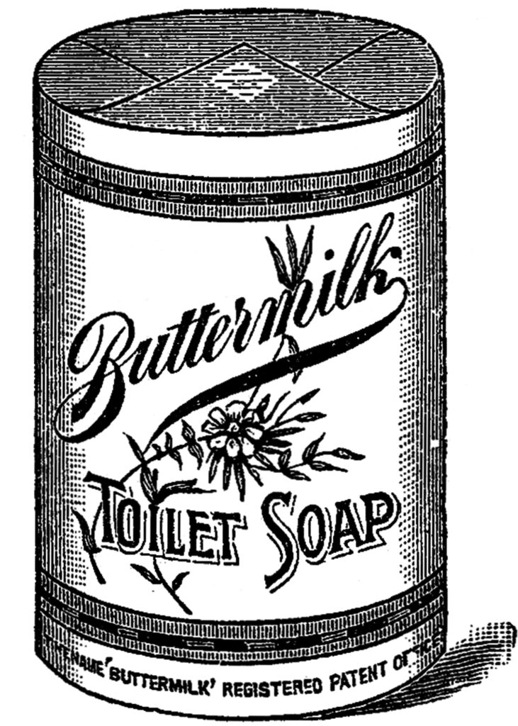 vintage soap package ad clipart