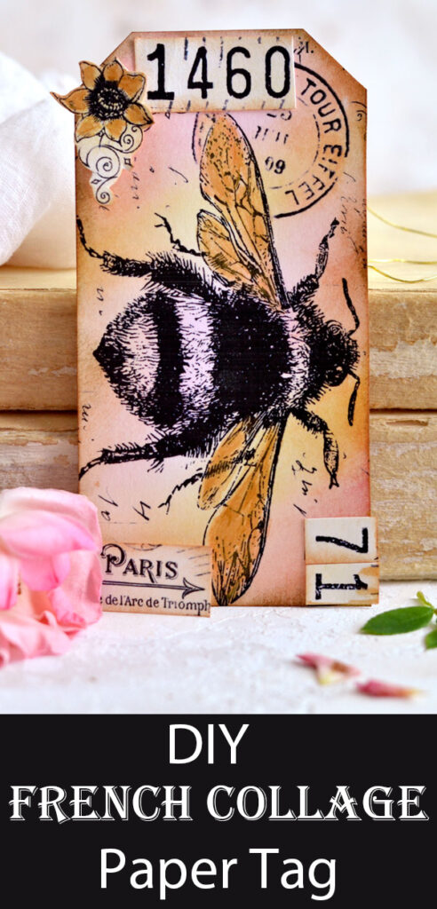 DIY French Collage Paper Tag