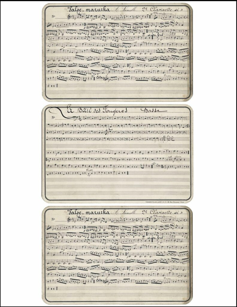 antique French sheet music printable image