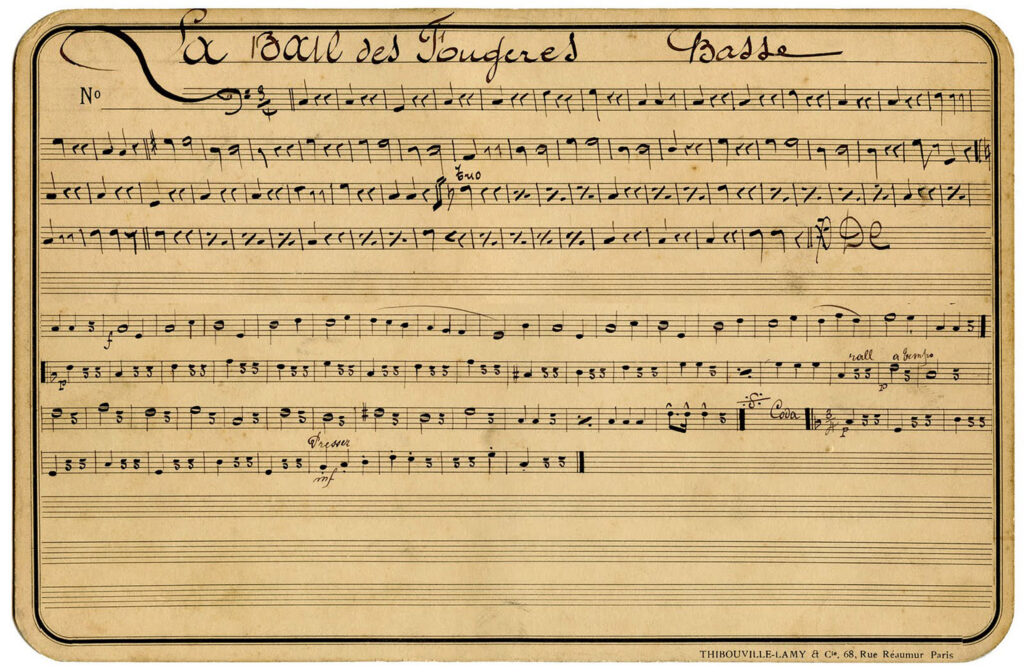 handwritten sheet music vintage illustration